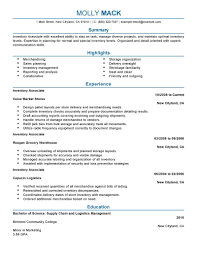 best inventory associate resume example livecareer create my resume