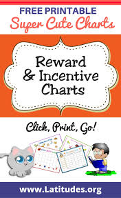 printable reward incentive charts for kids acn latitudes reward and incentive charts