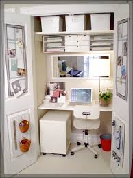 chic white home office in small spaces chic small white home