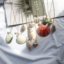 <b>Canner Gold Chain</b> Sea Shell Choker <b>Necklace</b> Handmade ...