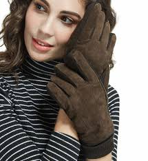 LETHMIK Thick Suede <b>Leather</b> Gloves <b>Womens Winter Warm</b> ...