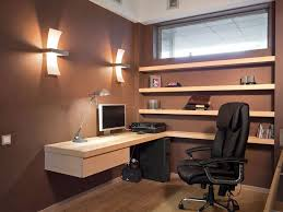 small home office calming brown calming office colors