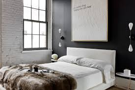 industrial bedroom design ideas white brick view in gallery white brick and dark accent wall add contrast to the n