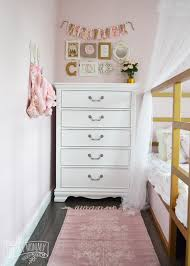 Shabby Chic Bedroom Wall Colors : A pink white u gold shabby chic glam girlsu bedroom reveal