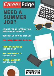 youth summer jobs info session career edge need a summer job