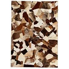 Buy Tidyard Decor <b>Rug Genuine Leather Patchwork</b> Rug with Felt ...