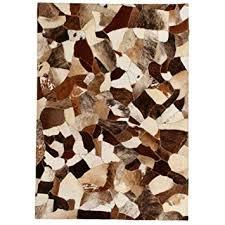 Buy Tidyard Decor <b>Rug Genuine Leather</b> Patchwork Rug with Felt ...