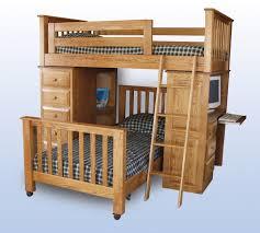 furniture fashionable bunk bed desk combo design ideas natural polished hickory hardwood bunk bed with bunk bed dresser desk