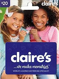Claire's Gift Card $20: Gift Cards - Amazon.com