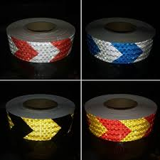 Compare <b>50mmx30m Colors</b> Arrow Pattern Mesh Reflective Ribbon ...