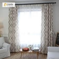 DIHIN HOME Modern <b>Embroidered Chinese Knot</b> Curtain ,<b>Cotton</b> ...
