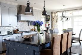 visual comfort lighting kitchen transitional with blue cabinets breakfast bar image by elizabeth reich blue cabinet kitchen lighting