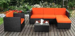 orange black rattan garden furniture black garden furniture