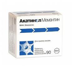 <b>Акатинол мемантин</b> таб. п.п.о. <b>10мг</b> №90 — купить по выгодной ...