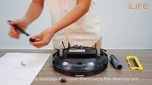 How to clean the <b>roll</b> brush | ILIFE A6 <b>Robot Vacuum Cleaner</b> ...