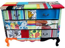 1 beautiful table bright coloured furniture