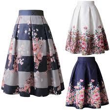 <b>Women</b> Vintage <b>Floral</b> Printed High Waist <b>Tutu Skirts Ladies</b> Ball ...