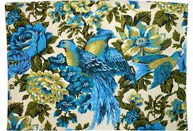Blue Floral <b>Bird</b> Fabric, <b>2 Pcs</b>. | Fabric <b>birds</b>, Love art, <b>Birds</b>