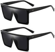 2pcs Square Oversized Sunglasses for Women Men ... - Amazon.com
