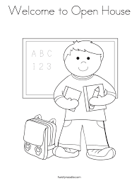 Small Picture Welcome to Open House Coloring Page Twisty Noodle