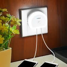 Brelong 110-240V <b>LED Human</b> Body Sensor USB Chargers <b>Night</b> ...