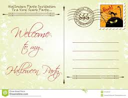 halloween monster party postcard invitation template stock vector invitation layout halloween party royalty stock photography
