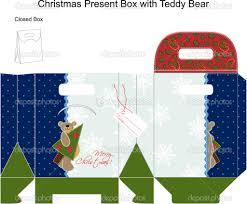 template christmas gift box teddy bear stock vector template christmas gift box teddy bear stock vector 11967866