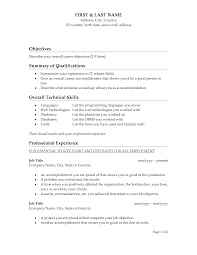 sample of objective in resume in general  seangarrette co   resume template objectives