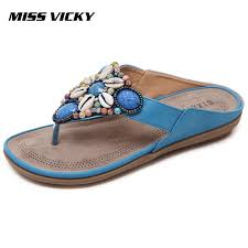 <b>MISS VICKY 2019 New</b> Summer Casual Women'S Slippers ...
