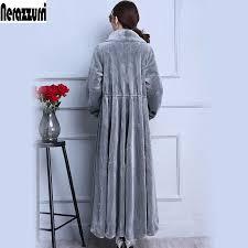 Nerazzurri Real fur coat women winter 2019 long <b>large</b> size <b>oversize</b> ...