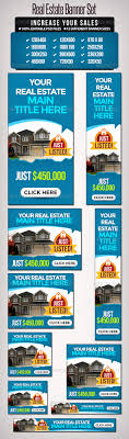 real estate vacation rental banners template design ads real estate banner set 12 sizes