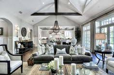 beautiful traditional gray and white large open living room sisal wood chandelier big living rooms