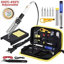 Amazon.com: <b>Wmore Soldering Iron</b> Kit, 14 in 1 110V 20W to 60W ...