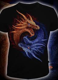 Купить клубную футболку Драконы Инь и Янь (Светится в ...