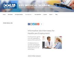 web development facilitechit new ccl medical search web site