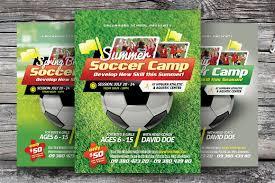 soccer camp flyer templates flyer templates on creative market