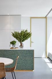 kitchen island integrated handles arthena varenna: green mini subway tiles on the back of the island i hadnt thought of that by at social media marketing pinterest marketing specialists