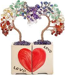 Top Plaza 7 Chakra Healing Crystals Stones Tree ... - Amazon.com