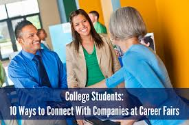 college students 6 ways to connect companies at career fairs college recruiting 3