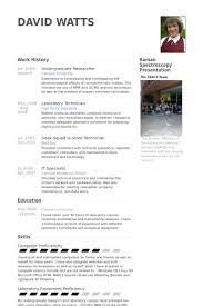 chercheur de premier cycle exemple de cv   base de données des cv    undergraduate researcher exemple de cv