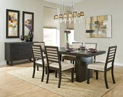 modern wood dining room sets: full size of kitchen plain black wood lancaster beautiful painting simple grey wall glass flower