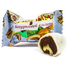 <b>Конфеты Абрикос в йогуртовой</b> глазури с грецким орехом, 200 г ...