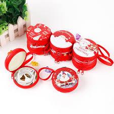 <b>Christmas</b> Red Cute Round Coin Storage Purse <b>Headphone Case</b> ...
