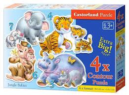 Купить <b>Набор</b> пазлов Castorland Jungle Babies (B-04249/<b>C4</b> ...