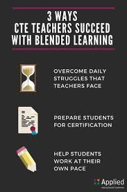 best images about career technical education cte ctae on 3 ways cte teachers succeed blended learning