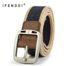 <b>IFENDEI</b> Fashion Casual Canvas <b>Belt Men</b> Alloy Needle Buckle ...
