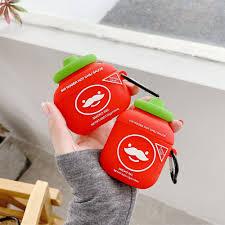 Для AirPods 2 <b>Чехол Red</b> Chili Sauce Bottle милый мультяшный ...