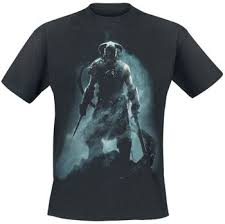 V - <b>Skyrim</b> - Dragonborn | The Elder Scrolls <b>T</b>-<b>Shirt</b> | EMP