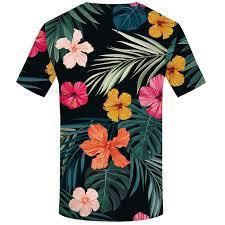 Online Shop <b>KYKU</b> Brand Flower <b>T shirt</b> Green Leaves <b>Tops</b> Weeds ...