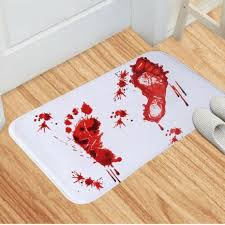 <b>Horror</b> Blood Footprints Mat Bathroom <b>Halloween</b> Floor Rug Carpet ...